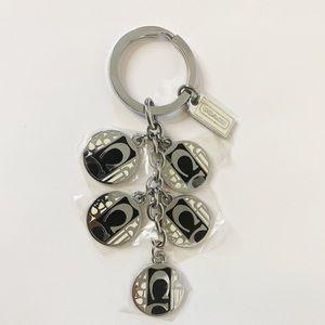 """NEW 5"""" Coach Classic Logo Keychain"""